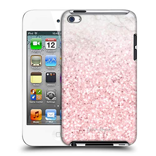 Official Nature Magick Pink Sparkle 2 Rose Gold Marble Glitter Hard Back Case Compatible for Apple iPod Touch 4G 4th Gen (Ipod Touch 4 Case Roses)