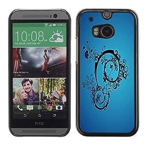 TopCaseStore / la caja del caucho duro de la cubierta de protección de la piel - Blue Abstract - HTC One M8