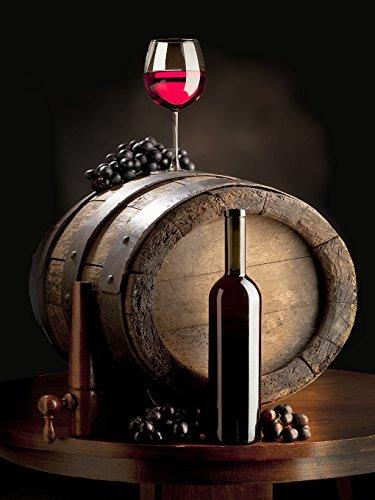DZJYQ 5x6.5ft(1.5x2m) Ren Wine Bucket Purple Grape Wood Table Bottle Goblet Brown Backdrop Photography Background 08