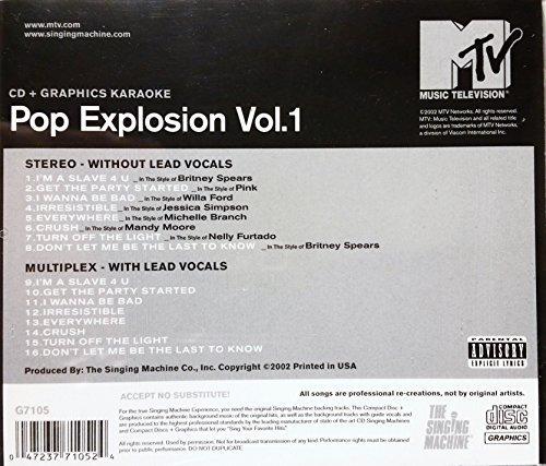Pop Explosion, Vol. 1 - CD + Graphics Karaoke MTV -