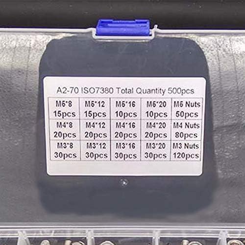 Screws and Fasteners Screw Washer Washer Flat Screw HHTC Nut /& Bolt Sets Washers 500pcs//Lot Stainless Steel Hexagon Socket Head Cap Socket Screws Bicycle Hex Bolt Nut Screws Set Assortment Kit