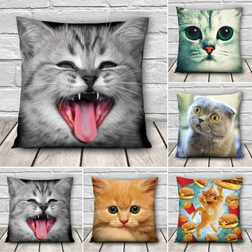 Pillow Cases - 3d Cat Pillow Case Cute Pillows Actual Decorative Cases Product Square Fashion Printed Cover - Not - - Square Fashion Arizona