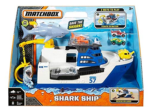 - Matchbox Shark Ship Floats in Water and Rescue on Land