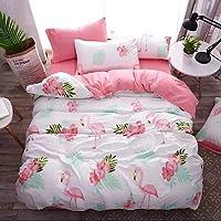 Bedding Set of 6 Pieces Double Size,Flamingo Design