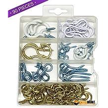 Amazoncom Vinyl Coated ScrewIn Hooks Hooks Industrial - Vinyl coated cup hooks
