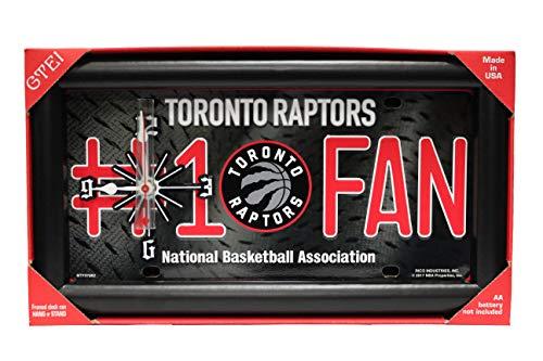 Toronto Raptors #1 Fan NBA Logo Quartz Clock. Framed Clock Can Hang Or Stand.Size : 33.5