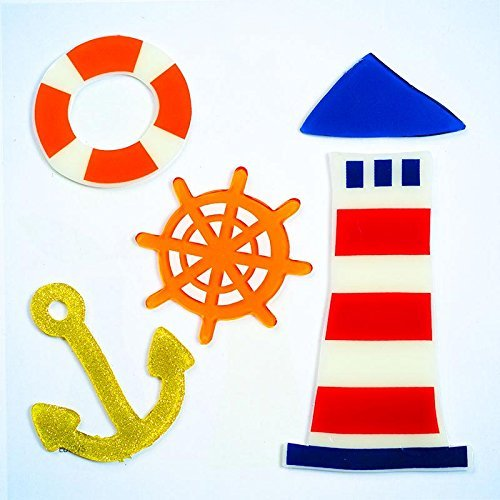 Design Ideas GelGems Summertime Themed Gel Window Clings (At Sea, Small Bag)