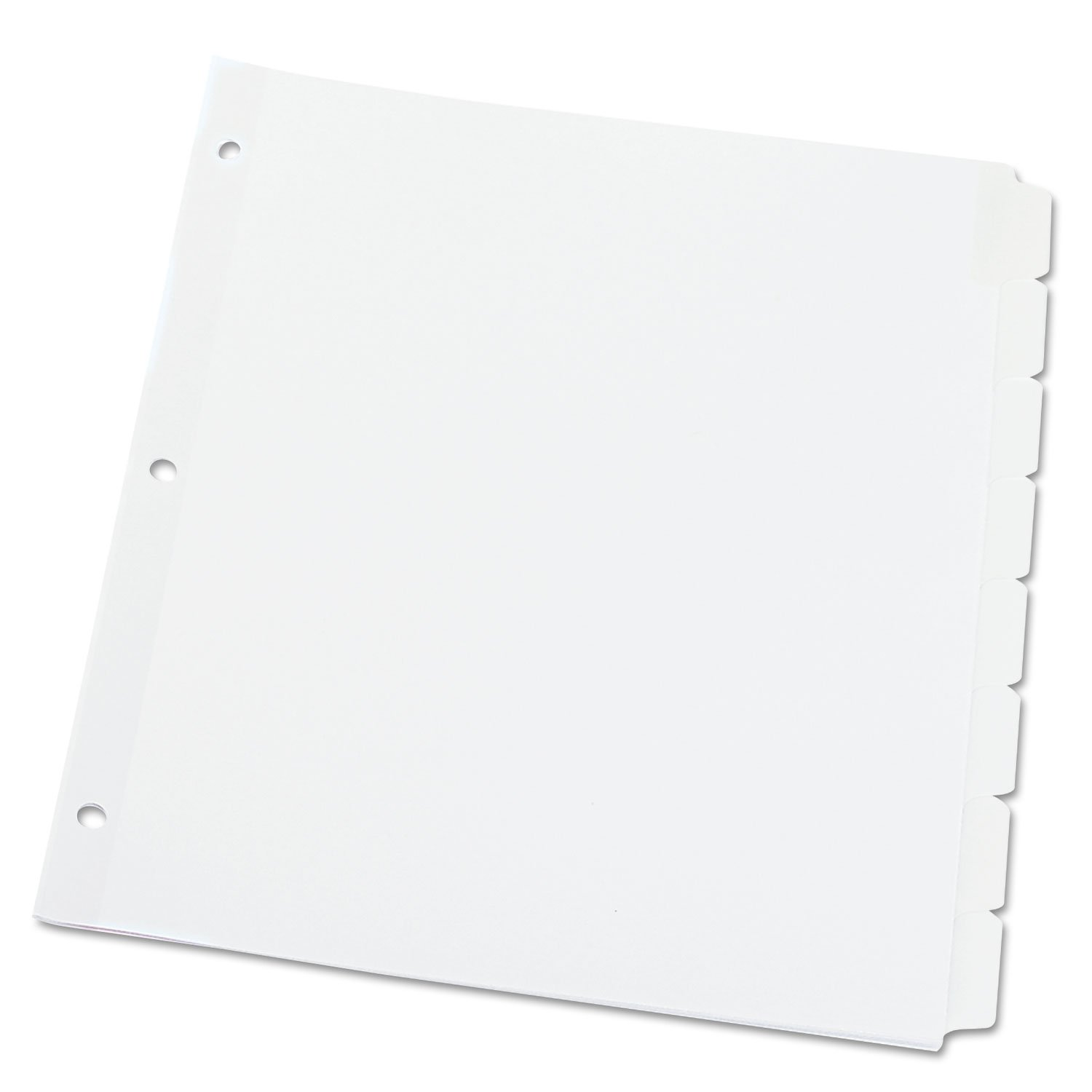 Universal 20818 Write-On/Erasable Indexes, Eight White Tabs, Letter, White UNIVERSAL OFFICE PRODUCTS