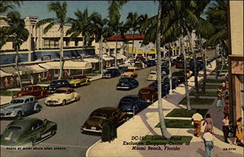 Exclusive Shopping District in Miami Beach Miami Beach, Florida Original Vintage - Beach In Miami Shopping
