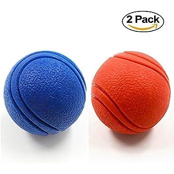 Pet Supplies : 2 Pack YUSEN Tough Rubber Bouncy Tennis