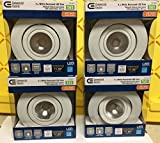 4 Pk LED Commercial Electric 4 in. Dimmable White Recessed Gimbal Light T41 --P#EWT43 65234R3FA529261