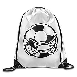 HAOHAO Men's Soccer Emoji Drawstring Backpacks/Bags