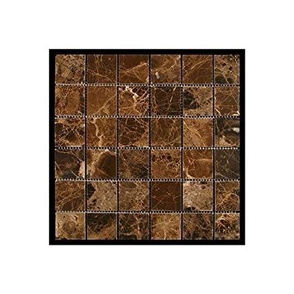 Emperdaor X POLISHED Mosaic Tiles On X Sheet For Backsplash - 12x12 tile shower walls