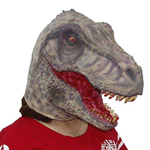 Scary Bloody Tyrannosaurus Dinosaur Mask Horror Halloween One Size Evil Bloody Teeth Dinosaur T-Rex Mask by Halloween Paradise (Image #1)