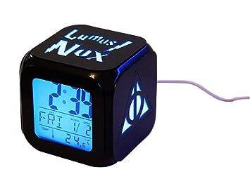 Big Free Tech Relojes despertadores Harry Potter,Retroiluminación Azul Colorido Relojes despertadores,The Deathly Hallows LED de luz Nocturna Relojes, ...