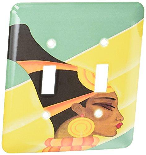 3dRose lsp_109945_2 pintura Digital de doble interruptor de palanca Deco arte africano
