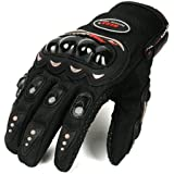 Probiker Motorcycle Riding Gloves Black Colour Biking & Racing (Large)