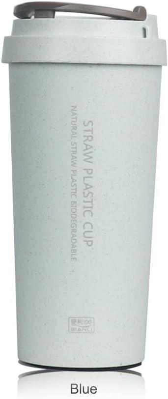 Regalo botella de agua 500 ml botella de oficina Café Paja de ...