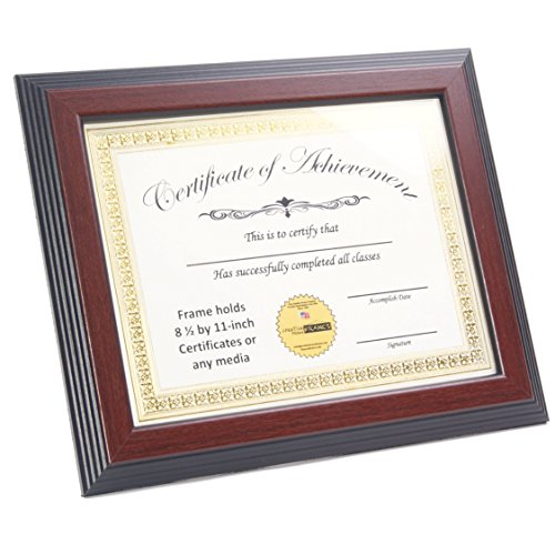 CreativePF [8.5x11mh] Mahogany Finish Diploma Frame Displays 8.5 by 11-inch Certificate, Graduation, University, Diploma Frames with Stand & Installed Wall Hanger by Creative Picture Frames (Image #2)