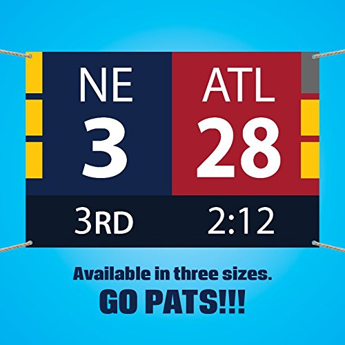 New England Patriots Super Bowl Comeback Scoreboard Vinyl Banner (3x2 feet) by New England Patriots