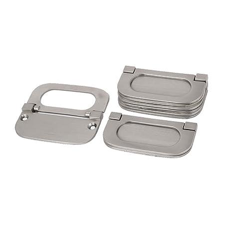 uxcell Cupboard Cabinet Drawer Metal Flush Mount Door Pull Handle