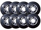 Outdoor ROLLER HOCKEY WHEELS HiLo SET 4-76mm 4-80mm 82a