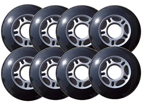 Amazon Choice Inline Skate Replacement Wheels 70mm 82A Grey