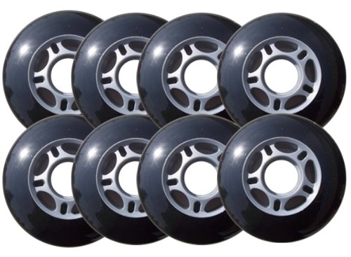 Outdoor ROLLER HOCKEY WHEELS HiLo SET 4-76mm 4-80mm 82a by Outdoor Inline Wheels