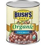 Bushs Best Organic Pinto Beans, 110 Ounce -- 6 per case.