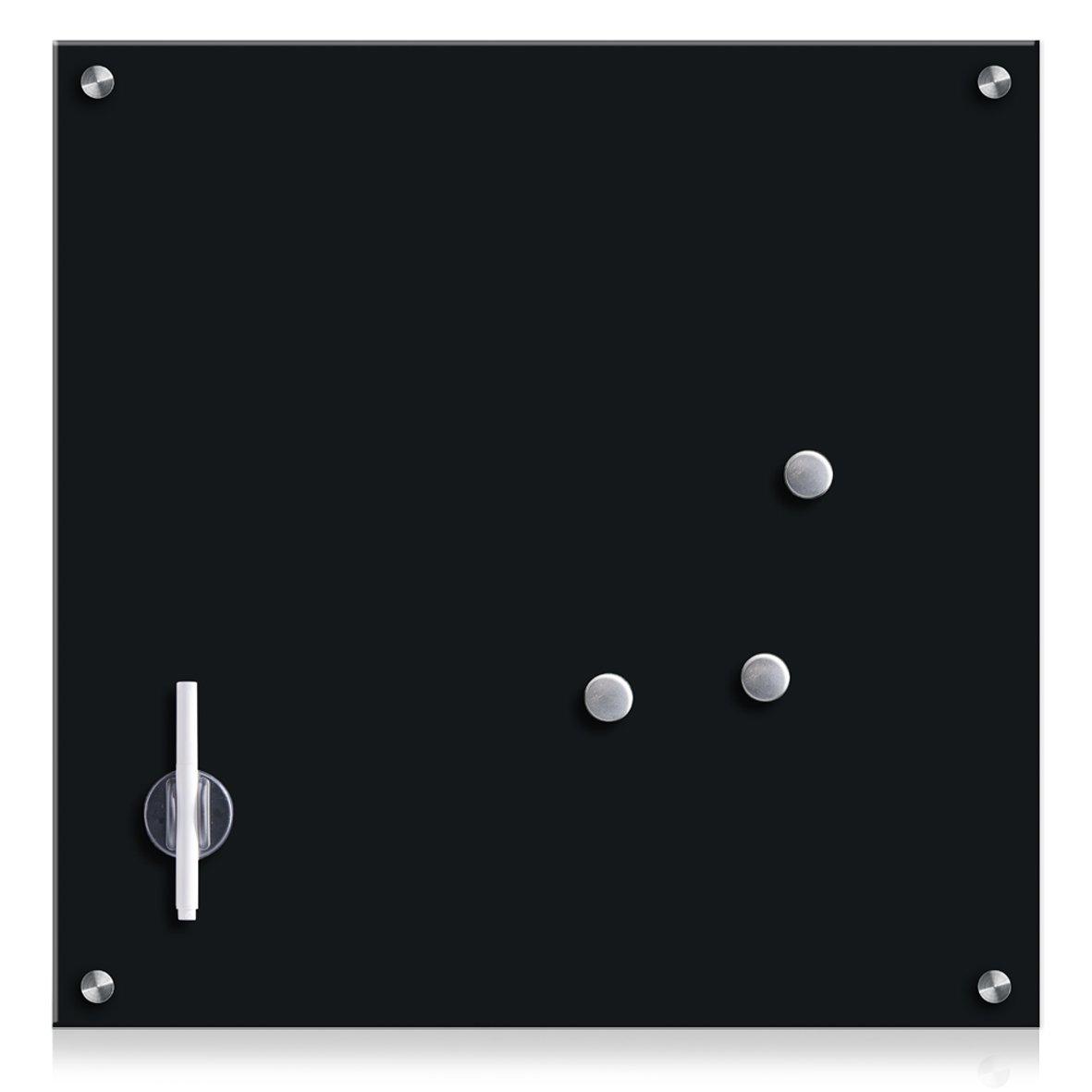 Zeller 11681Memo Board, Glass/Black 55x 55x 3cm