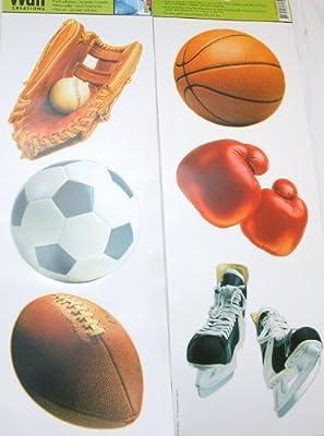 Main Street Wall Creations Jumbo Stickers - Sports