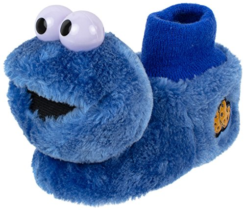 Sesame Street Cookie Monster Socktop Slipper for Toddlers (Toddler Dual Size 3/4, Blue)