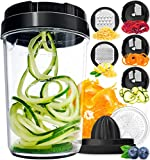 Vegetable Spiralizer Vegetable Slicer - 8-in-1 Zucchini Spaghetti...