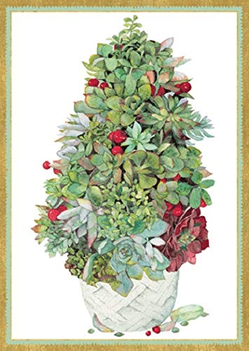 Funny Christmas Cards Happy Holiday Cards, Boxed Christmas Cards, Succulents Merry Christmas Card, 16 Holiday Greeting Cards - Inside: Greetings of The Season and Best Wishes in The New Year (Happy New Year And Merry Christmas Cards)