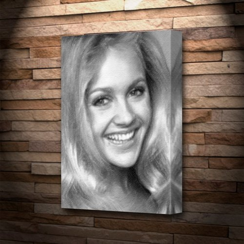 CHARLENE TILTON - Canvas Print (A5 - Signed by the Artist) #js001 by Canvas Prints (A5) - Actresses