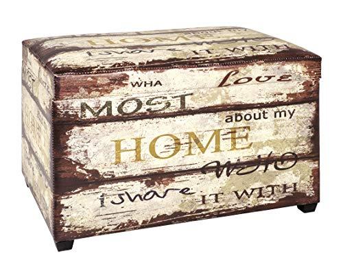 Haku Mobel caja de asiento - Tapizado en apariencia vintage, altura marron 42 cm