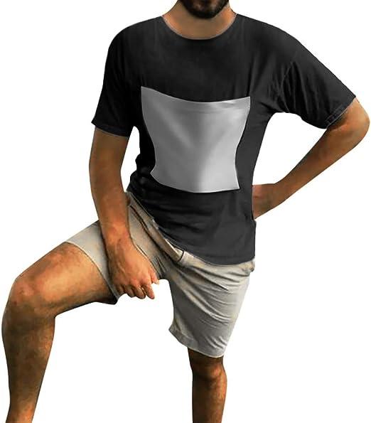 KFSO - Camiseta de manga corta para hombre con bolsillo frontal ...
