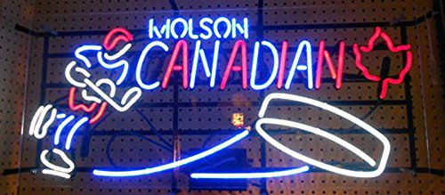 Molson Canadian Hockey Neon Sign 24