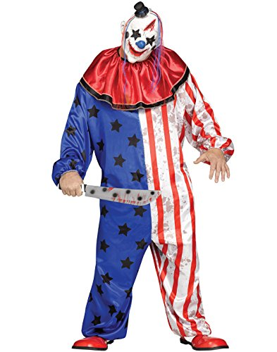 Fun World Men's Evil Clown Plsz Cstm, Multi Plus Size ()