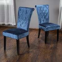 Kensington Crushed Velvet Tufted Dining Chair