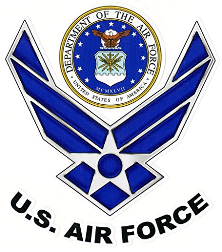 U.S. Air Force Vinyl Decal Sticker|Cars Trucks Vans Walls Laptops|Full Color|5.5 In|KCD750