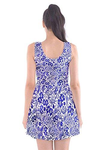 CowCow - Vestido - para mujer Blue & White