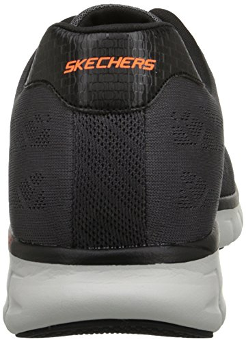 Skechers Synergy - Fine Tune, Herren Sneakers Grau (Ccbk)
