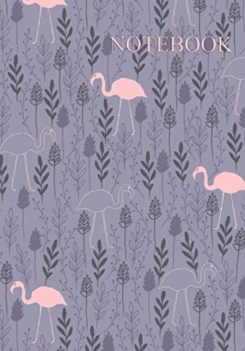 Notebook: Pretty Pink Flamingo Pattern Notebook