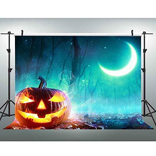 VVM Cartoon Backdrop 7x5Ft Halloween Theme Photography Backdrop Customized Photography Backdrop Background Studio Prop PVV376