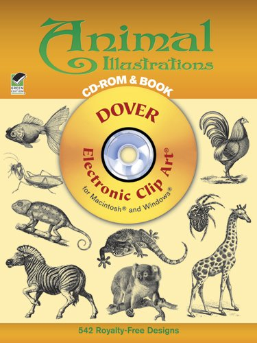 Animal Illustrations CD-ROM and Book (Dover Electronic Clip Art) pdf epub