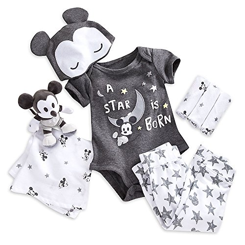 Mickey Mouse Layette Gift Set for Baby Size 3-6 MO Multi