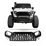 Gladiator Vader Grille Front White-Black for 2007-2017 Jeep Wrangler JK JKU Unlimited Rubicon Sahara X Off Road Sport Exterior Accessories Parts