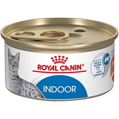 Royal Canin Feline Health Nutrition Indoor Adult Morsels in Gravy Canned Cat Food, 3 oz (Pack of 24)
