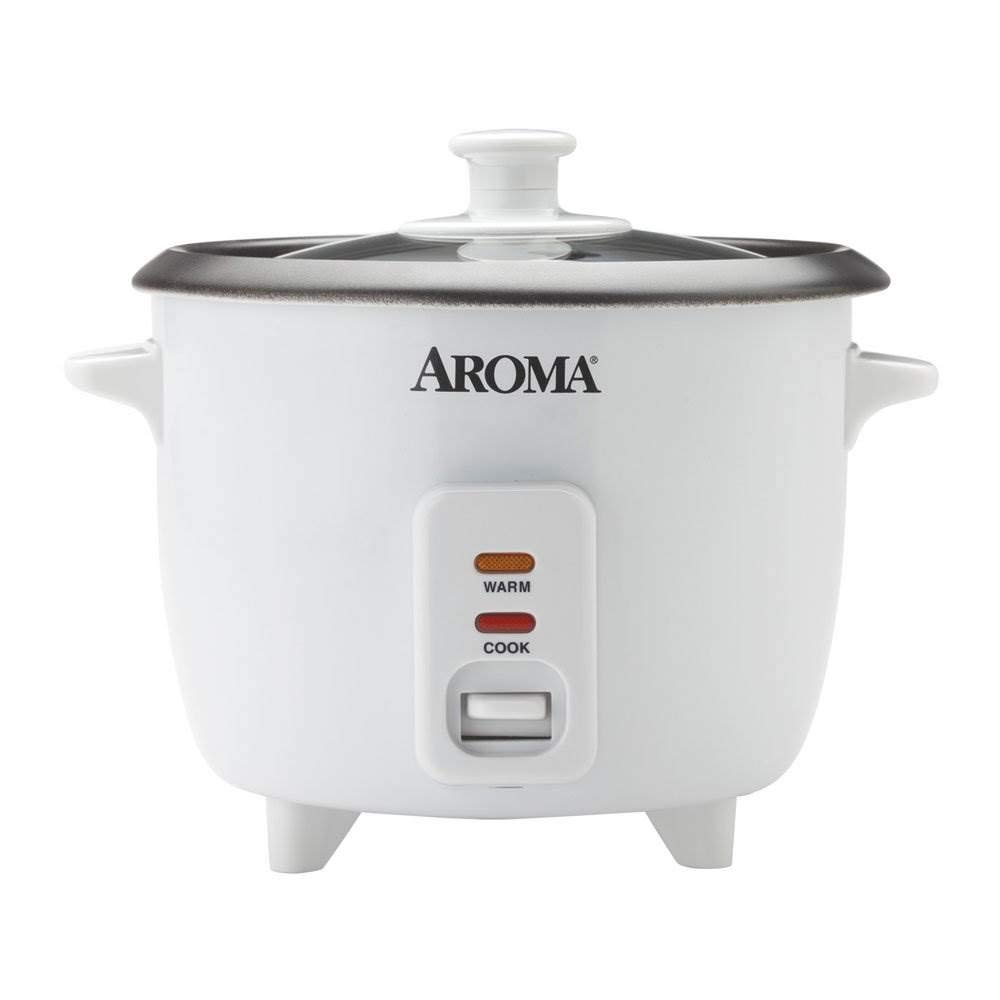 Aroma 6-Cup Pot-Style Rice Cooker, White 1
